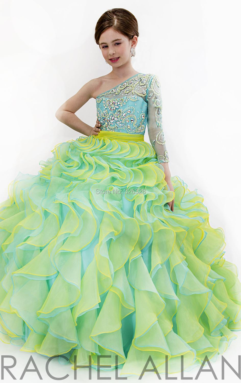 Aliexpress.com : Buy Crystals Beaded One Shoulder Ballgown Pretty ...