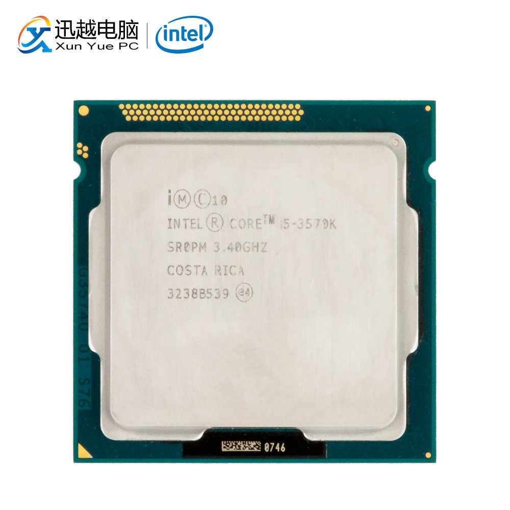 Intel Core I5-3570K Desktop Prosesor I5 3570 K 3.4 GHz Quad-Core 6 MB L3 Cache LGA 1155 Server digunakan CPU