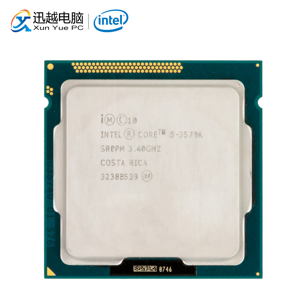 Intel Core i5-3570K Desktop Processor i5 3570K Quad-Core 3.4GHz 6MB L3 Cache LGA 1155 Server Used CPU