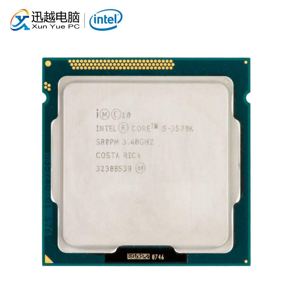 Intel Core I5-3570K Desktop Processor I5 3570K Quad-Core 3.4GHz 6MB L3 Cache LGA 1155 Server Used CPU