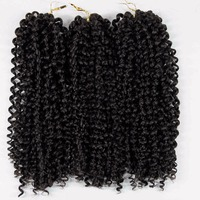 Yhair 12 Inch 3pieces Lot 50g Piece Marly Synthetic Braiding Hair With Ombre Purple Pink Blonde