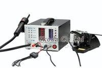 AOYUE 768 Naprawy ESD Bezpieczne System cyfrowy wyświetlacz gorące powietrze pistolet + 3-w-1 stacja lutownicza + Komórka Zasilacz DC System