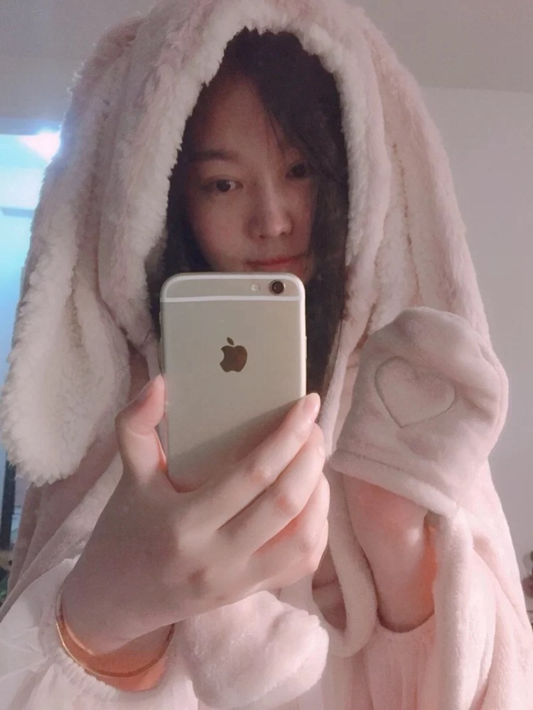 Cute Pink Comfy Blanket Sweatshirt Winter Warm Adults and Children Rabbit Ear Hooded Fleece Blanket Sleepwear Huge Bed Blankets 96