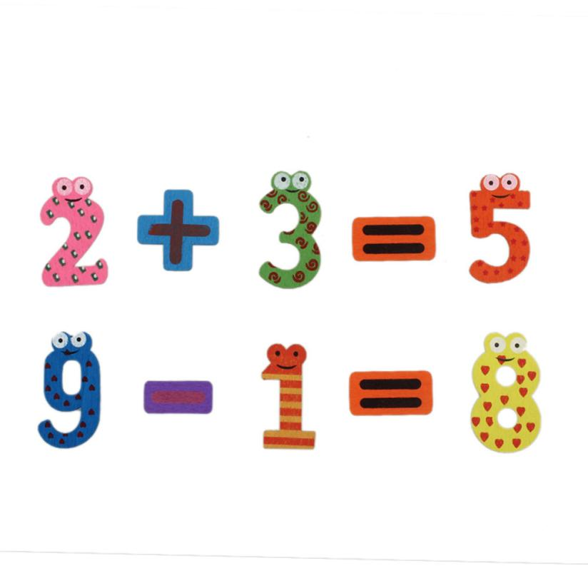 2017 Hot Selling 15pcs Fridge Magnets Early Learning Educational Toys Wooden Math Aug8