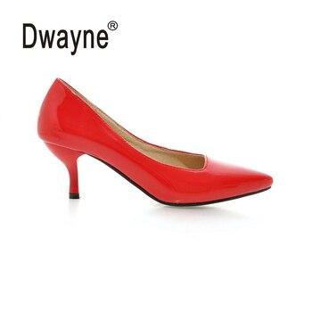 Большой Размеры Для женщин Туфли-лодочки Высокие каблуки Насосы Ху обувь для вечеринок для Для женщин из искусственной кожи обувь для вечер...