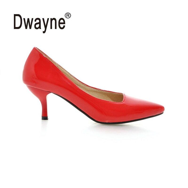Tamanho grande Sapato Bomba de Salto Alto das Mulheres Bombeia Sapatas Do Partido Para As Mulheres PU Sapatos de Festa A05-1 HU
