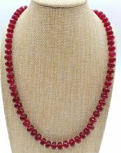 Facet 5x8mm Natural Red Ruby Gems Abacus Kralen Ketting 18 ''AAA(China)