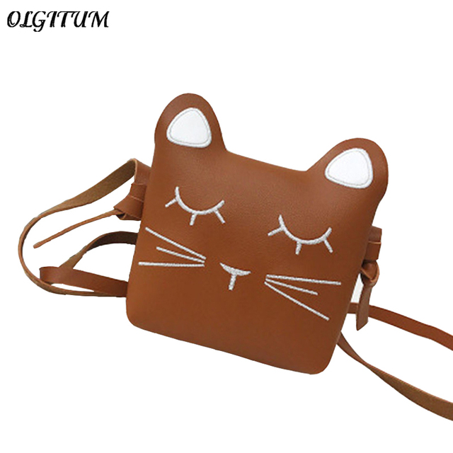 a5a7037ca9 Hot sale female mini Bag Fashion Women Cartoon printing cute cat shoulder  bag PU Leather Handbags Crossbody Bag