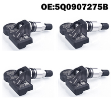 4 Uds Monitor de presión de neumáticos de coche Sensor TPMS 5Q0907275B para Audi A3 Q7 Q5 A4 A5 VW Arteon Teramont, passat phaeton phideon