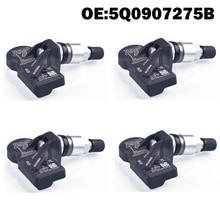 4 sztuk czujnik ciśnienia opon samochodowych TPMS 5Q0907275B dla Audi A3 Q7 Q5 A4 A5 VW Arteon Teramont, passat phaeton phideon