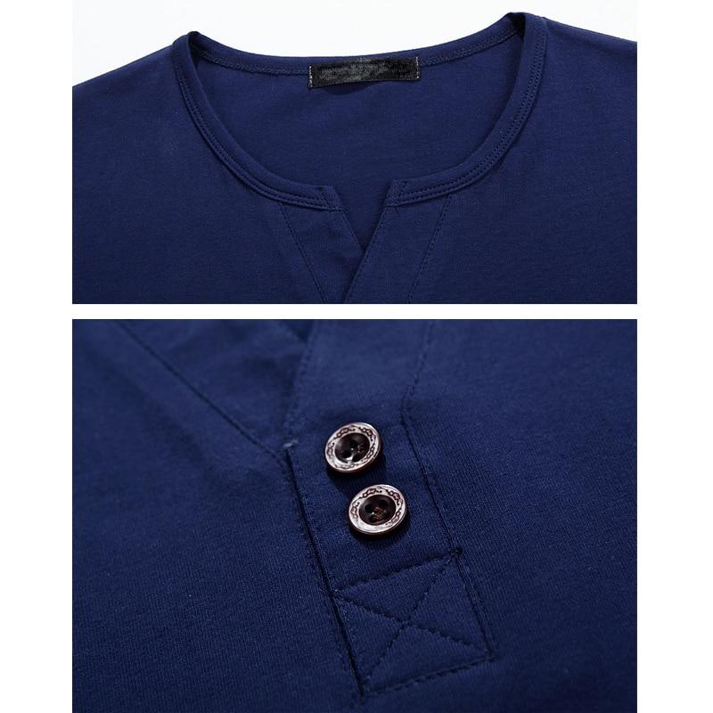 Men 39 S Henley Shirt 2017 Long Sleeve Cotton Tees