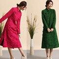 2017 New Spring Cheongsam Slim Cotton and Linen Cheongsam Women Chinese Style Long Cheongsam Long Sleeve D679