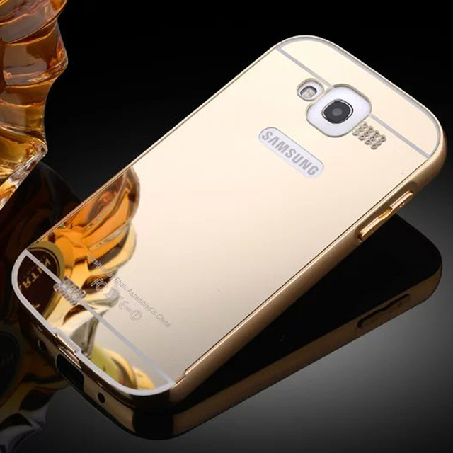 01 Luxury Aluminum Metal Frame+Mirror Acrylic Back Case For Samsung Galaxy Grand Neo Plus I9060I GT-i9060i i9060 Gt-i9060