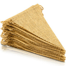 48 Pcs Burlap Banner, 36 Ft Flag,DIY Decoration for Holidays, Wedding, Camping, Party and Any Occasion