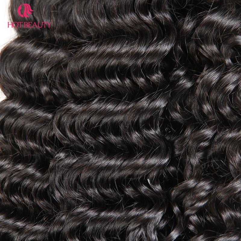 Flokët e Bukura të Bukura Afro Kinky Kaçurrelë Remy Flokët - Flokët e njeriut (të zeza) - Foto 6