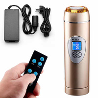 350ML 4 Color Remote Control Car Auto Heating Cup LCD Display Temperature Car Boiling Electric Kettle Boiling Vehicle Thermos