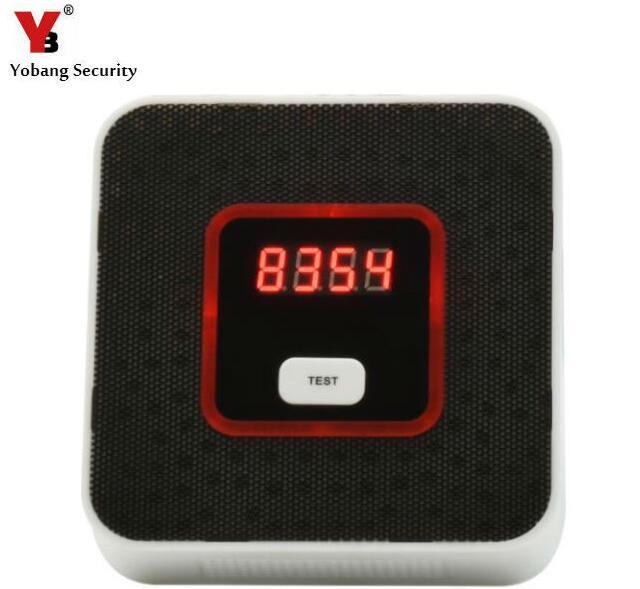Detector de Gas de seguridad Yobang Sensor de alarma Sensor de fuga de Gas Natural detector de fugas con Sensor de gas Natural de advertencia de voz