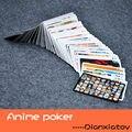 54 шт./компл. Аниме Покер Наруто One Piece APH Мику и так далее Игральных Карт Бумаги Рис Игрушки Коллекция Игр Карты Dianxiatoy