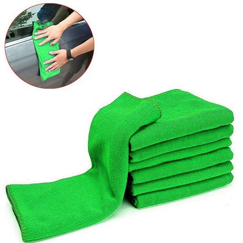 3PCS/bag Hot Sale New Soft Auto Detailing Green Microfiber Car Towel Wash Detailing Towel Cleaning Duster For Car Cleaning цена