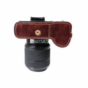 Image 4 - Capa de couro pu meio corpo para câmera, proteção para sony a7rm2 a7ii a7rii a72 a7r2 › a7sii a7m2 a7 markii com abertura da bateria