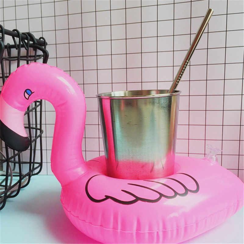 פלמינגו מתנפח מים צעצועי כיף לשחות בריכה לצוף לשתות בסיס צף מחזיק כוס מסיבת קישוט ילדים שחייה צעצועים