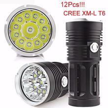 SP 22 Mosunx Business 2016 Hot Selling 30000LM 12x CREE XM-L T6 LED Flashlight Torch 4x 18650 Hunting Light Lamp