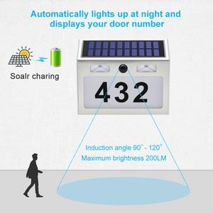 Image 3 - 5 LED Outdoor Doorplate Solar Lamp Waterproof House Number LED Solar Light Montion Sensor Plaue Light For Home Garden Door