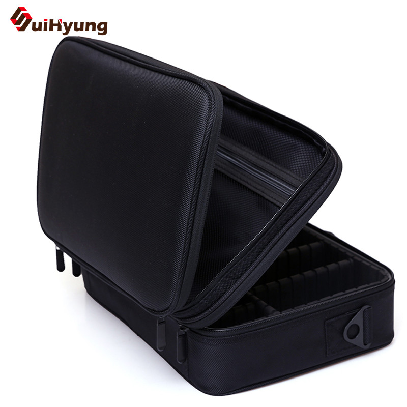 Double Layer Cosmetic Bag Big Capacity Portable Cosmetic Case Makeup Storage Bag Makeup Artist Professional Tool Storage Box spark storage bag portable carrying case storage box for spark drone accessories can put remote control battery and other parts