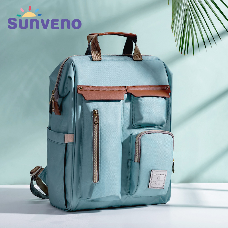 Sunveno Large Capacity Diaper Bag Maternity Nappy Bebek Bakim Cantalari Backpack Bag Baby Bolsa Maternidade Travel Baby Bags