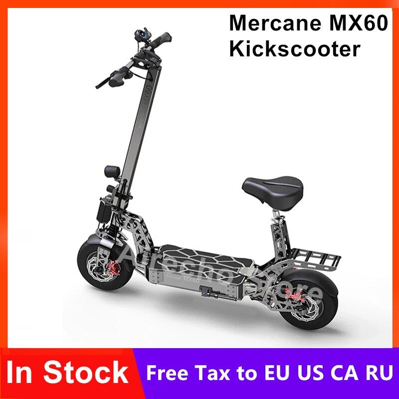 Nouveau Mercane MX60 Kickscooter pliable Scooter électrique intelligent 2400W moteur 60 km/h 100km kilométrage 11 pouces pneu double frein planche à roulettes