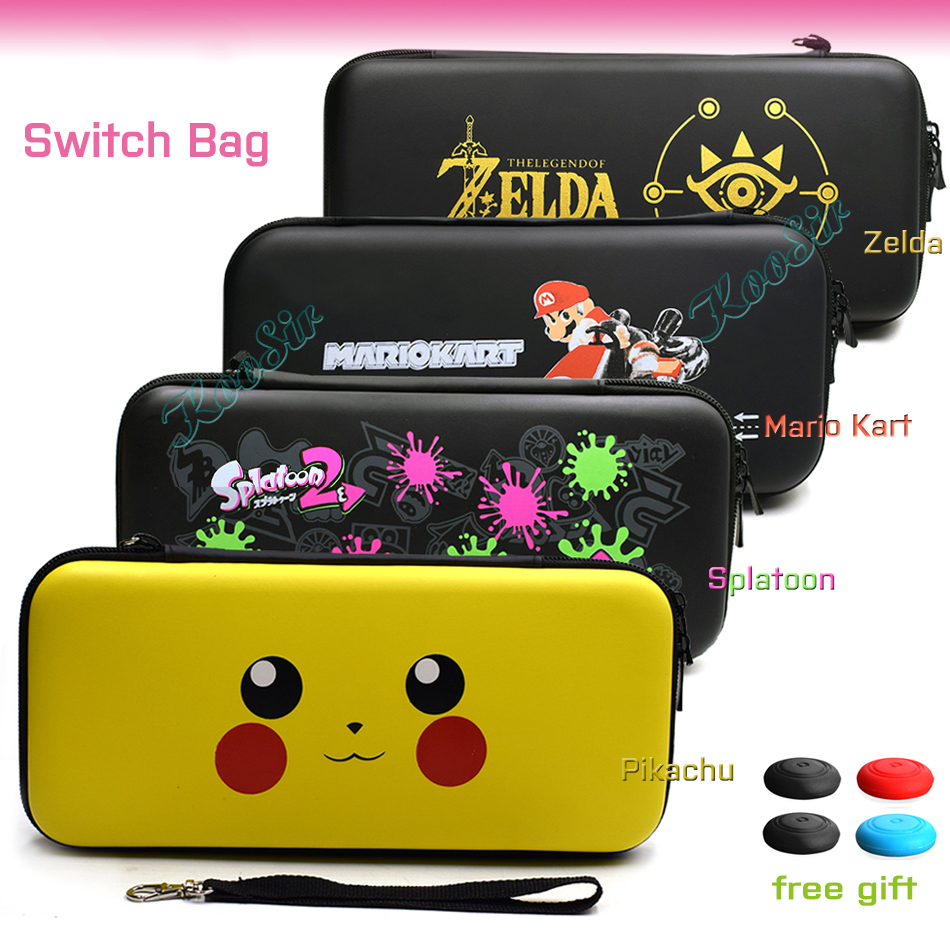 Nintendos Nintend Switch Console Case NS Pikachus Pattern Portable Hand Bag Nitendo Switch Cover For NintendoSwitch Game Card