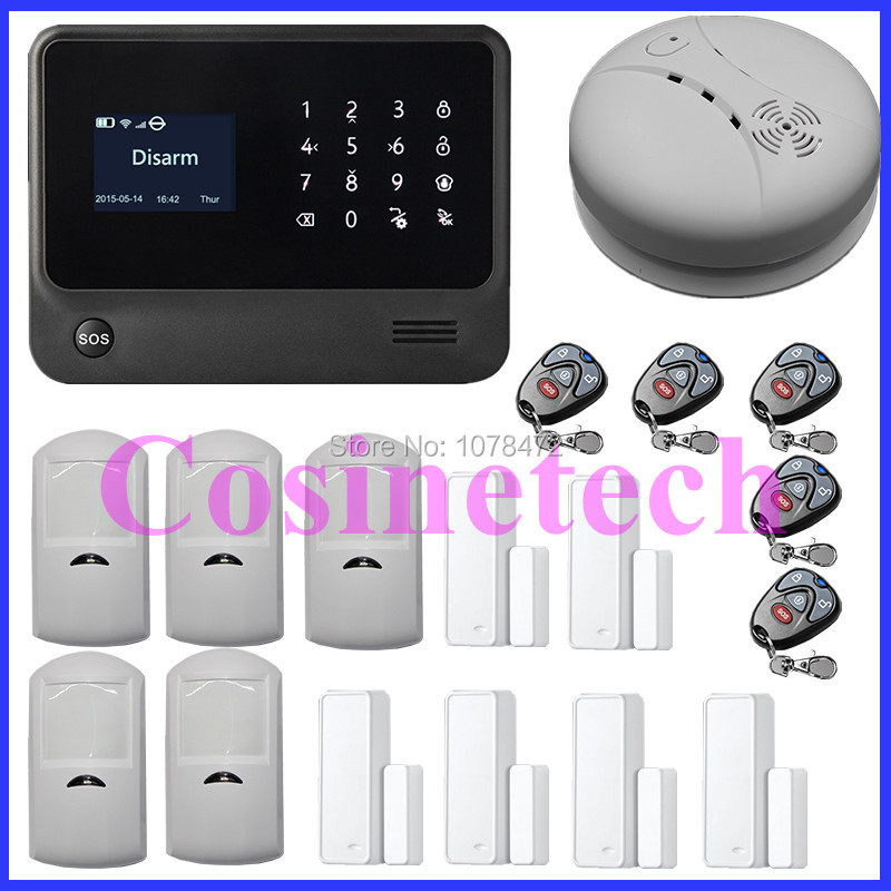 High quality Intruder burglar WIFI GSM alarm system with menu in multi-language English/Spanish/French/Russian/Dutch english language at secondary education in bangladesh