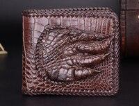 100% genuine alligator skin leather men wallet crocodile leather skin wallets and purse luxury money clip crocodile foot finger