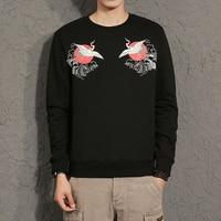 Korting goederen 2017 grappige t-shirts Originele ontwerp merk lange mouwen T-shirt mannen Animal prints Zwarte mannen kleding