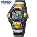 Pasnew brand men sports watches dual display analog digital LED Electronic quartz watches 100M waterproof swimming watch 2017
