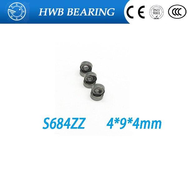 Free Shipping 10 PCS S684ZZ S684 zz Bearings 4x9x4 mm Stainless Steel Ball Bearings s684zz DDL-940ZZ  free shipping 10 pcs 684zz 684z 684 bearings 4x9x4 mm miniature ball bearings l 940zz abec5