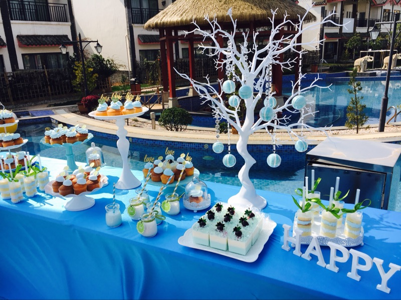 SWEETGO Vjenčanje ukras stablo bijela smola Simulirano stablo s - Za blagdane i zabave - Foto 6