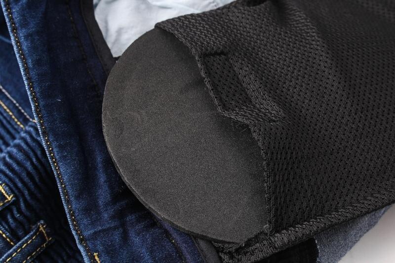 Motorcycle Pants Mens Motorbike Knee Protective Moto Jeans Trousers Windproof Motorcycle Racing Jeans Casual Pants blue