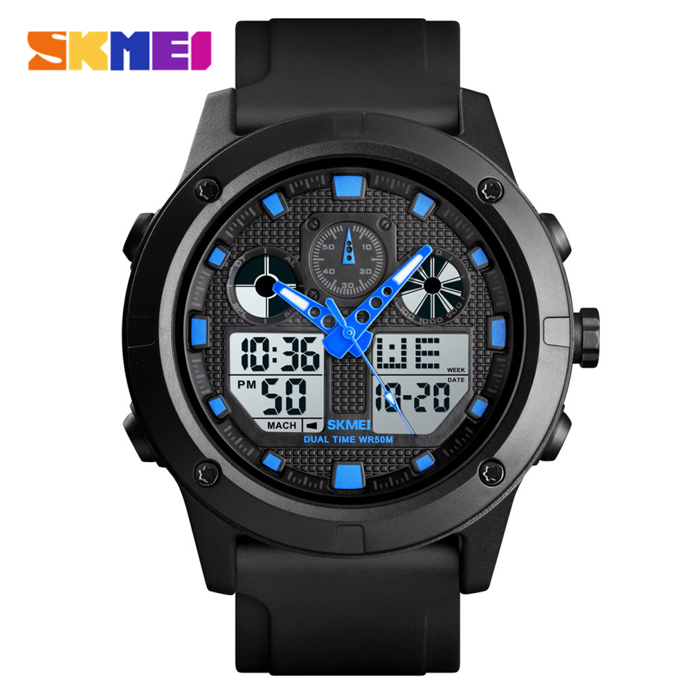 <font><b>SKMEI</b></font> Outdoor Sport Watch Men Digital Watches Military 5Bar Waterproof Luminous Dual Display Wristwatch Relogio Masculino <font><b>1514</b></font> image