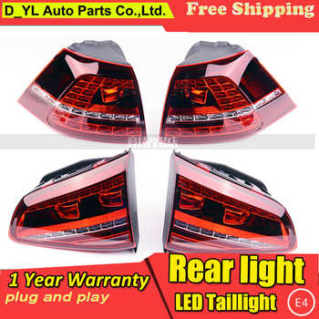 D_YL Car Styling for VW Golf 7 Taillights 2013-2014 Golf7 MK7 LED Tail Lamp Rear Lamp DRL+Brake+Park+Signal led light - DISCOUNT ITEM  36 OFF All Category