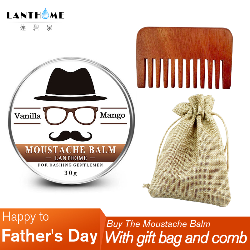 Beard Growth Oil Beard Balm Cream Comb Storage Bag For Beard Styling For Beard Conditioner And Natural Organic Moustache Wax