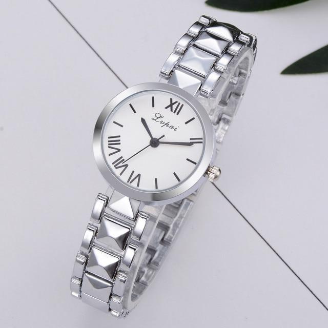 New Fashion Women Watches Luxury Brand Stainless Steel Bracelet Watches Ladies Q