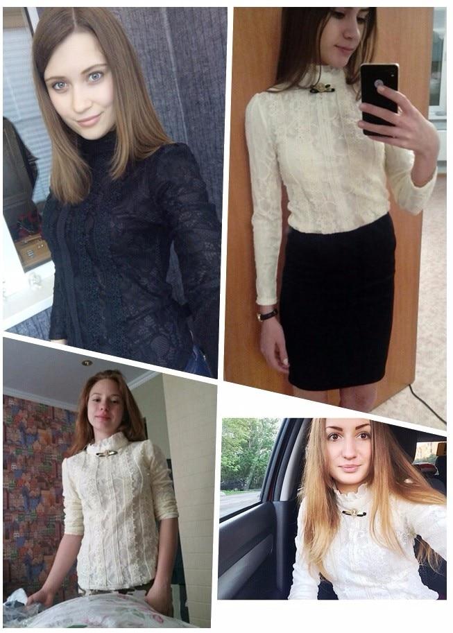 19 women tops and blouses Women Clothing fashion Blusas Femininas Blouses Women Shirts Crochet Blouse Lace Shirt clothes 999 22