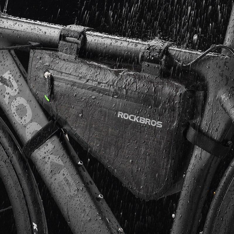 ROCKBROS непромокаемая Большая вместительная MTB Дорожная рама, сумка для велосипеда, сумка для велосипеда, треугольная сумка, водонепроницаема...