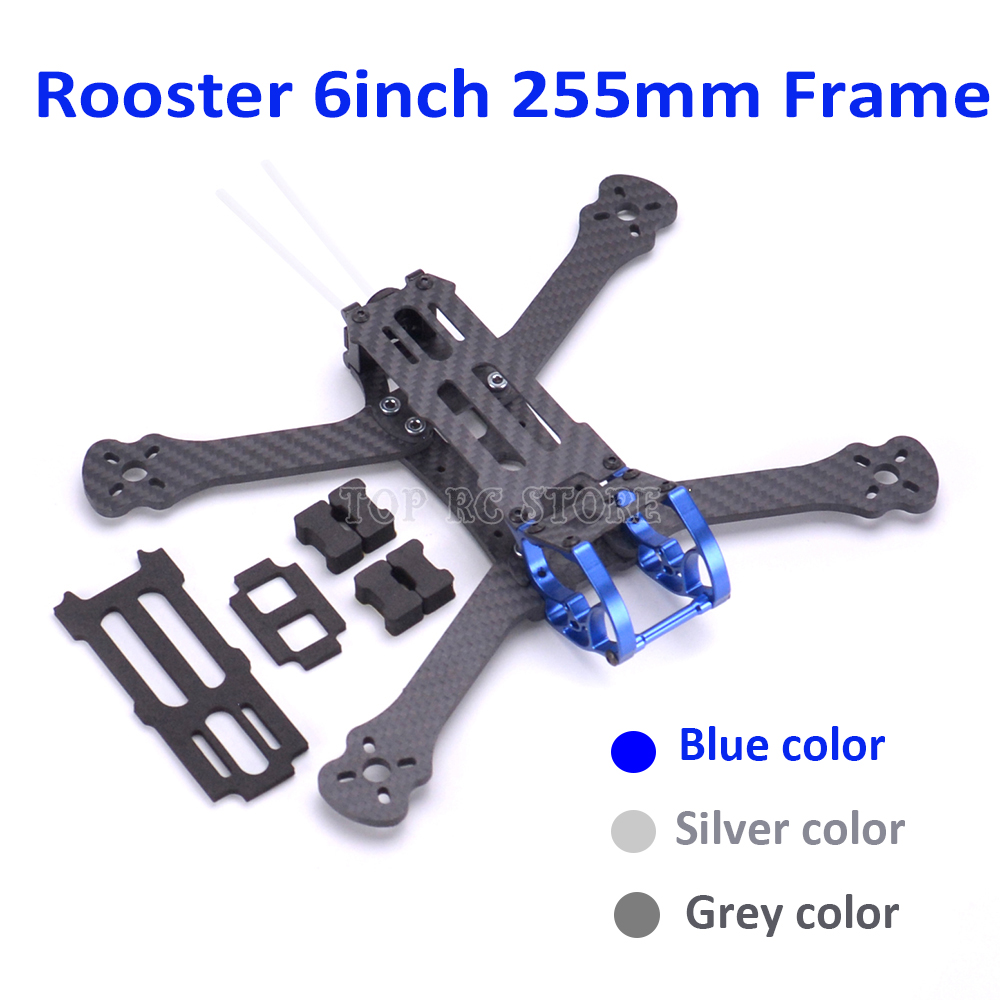 Rooster 255 255mm 6 6 Inch FPV Racing Drone Quadcopter Freestyle Frame with Aluminium Alloy with