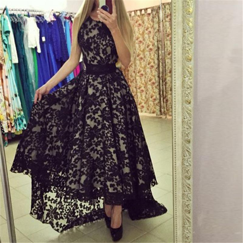 Women Summer Formal Party Long Maxi Dress Lace Floral Gown Dresses ...