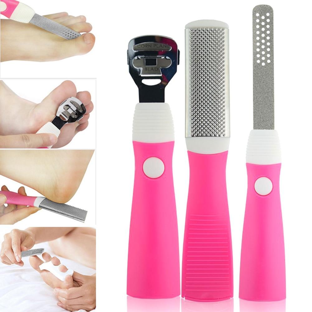 5Pcs/Set Professional Pedicure Tool Set Exfoliating Prevent Dead Skin Manicure for Foot Skin Care WH998