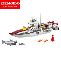SERMOIDO Pogo Bela Urban City Fishing Boat Building Blocks Bricks Compatible With Lepine Toys Gifts For