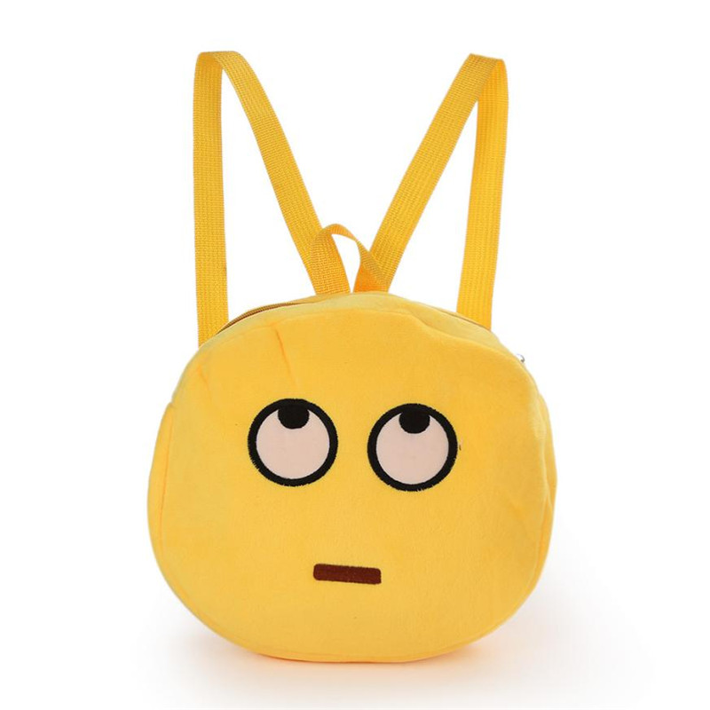 2016 Cute Emoji Emoticon Shoulder School Child Bag Backpack Satchel Rucksack back pack backpacks for teenage girls sac a dos