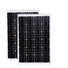 Portable Panneau Solaire 12v 60w 2 Pcs Panneaux 24v 120w Solar Battery Charger Outdoor Lighting System Caravan Camping